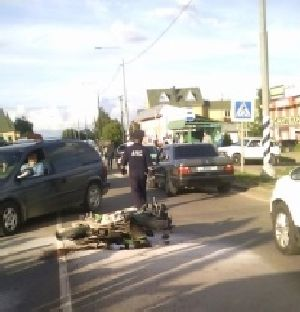 В Малоярославце сбили мотоциклиста