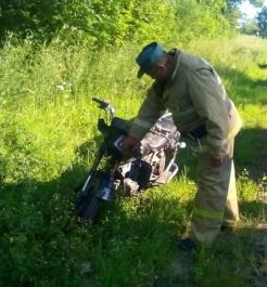 мотоцикл в аварии