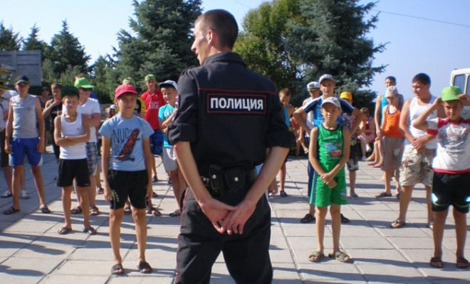 зарядка с полицейским