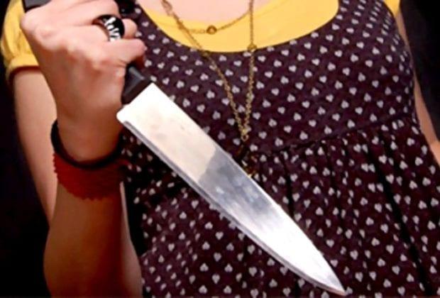 дама с ножом