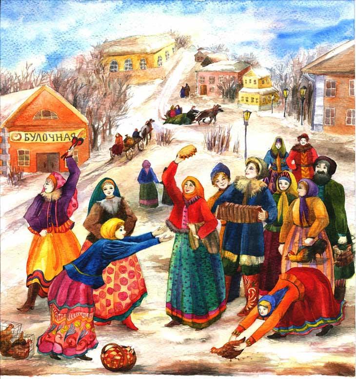 Учет, картинки народных праздников для детей