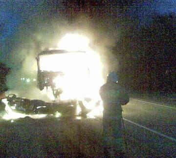 авария с пожаром