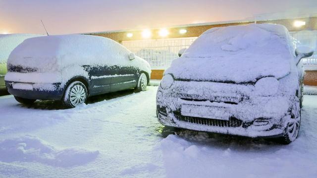 Машины зимой
