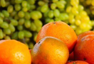 Апельсин и виноград