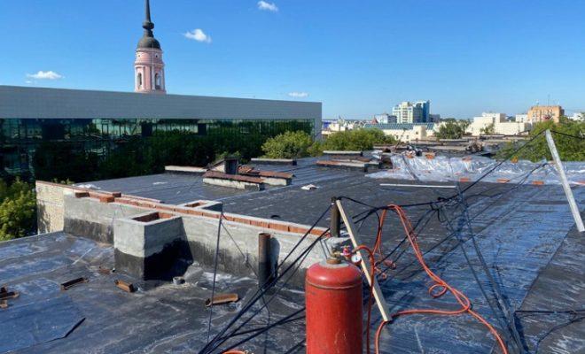 Крыша дымоход