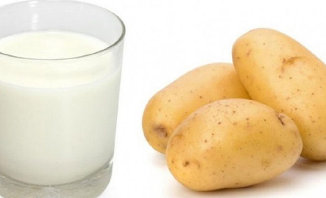 молоко картофель