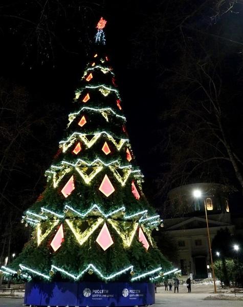 240 светящихся нитей украсят новогоднюю ёлку в парке Калуги