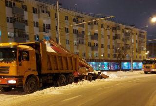 уборка снега 27 января