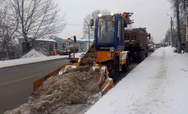 вывоз снега 29 января