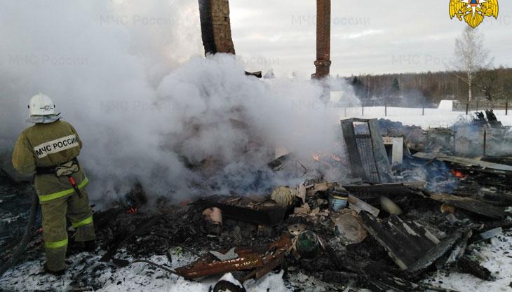 пожар Сухиничский район