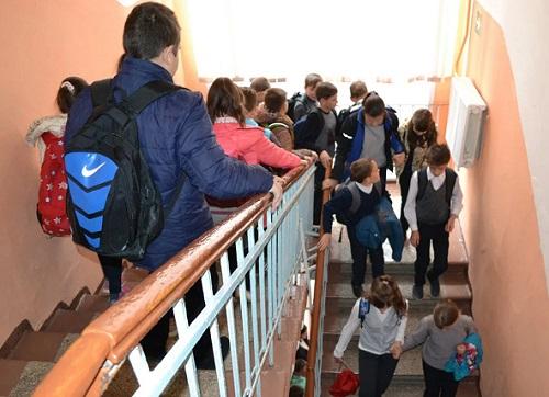 Эвакуация школа
