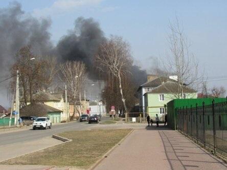пожар в Козельске