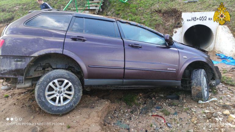 В Малоярославецком районе жестко столкнулись две иномарки
