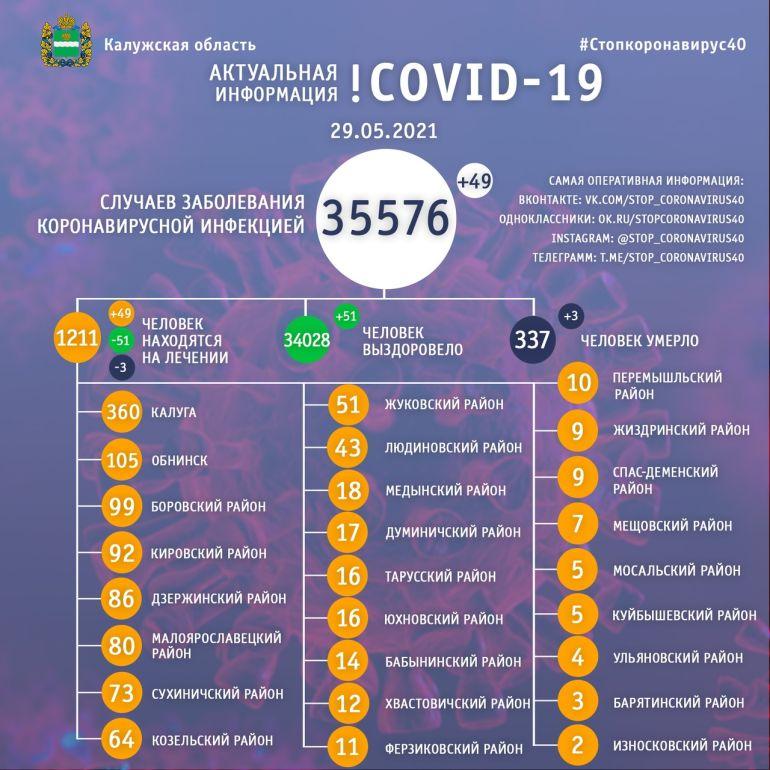 Три человека умерли за сутки от коронавируса в Калужской области