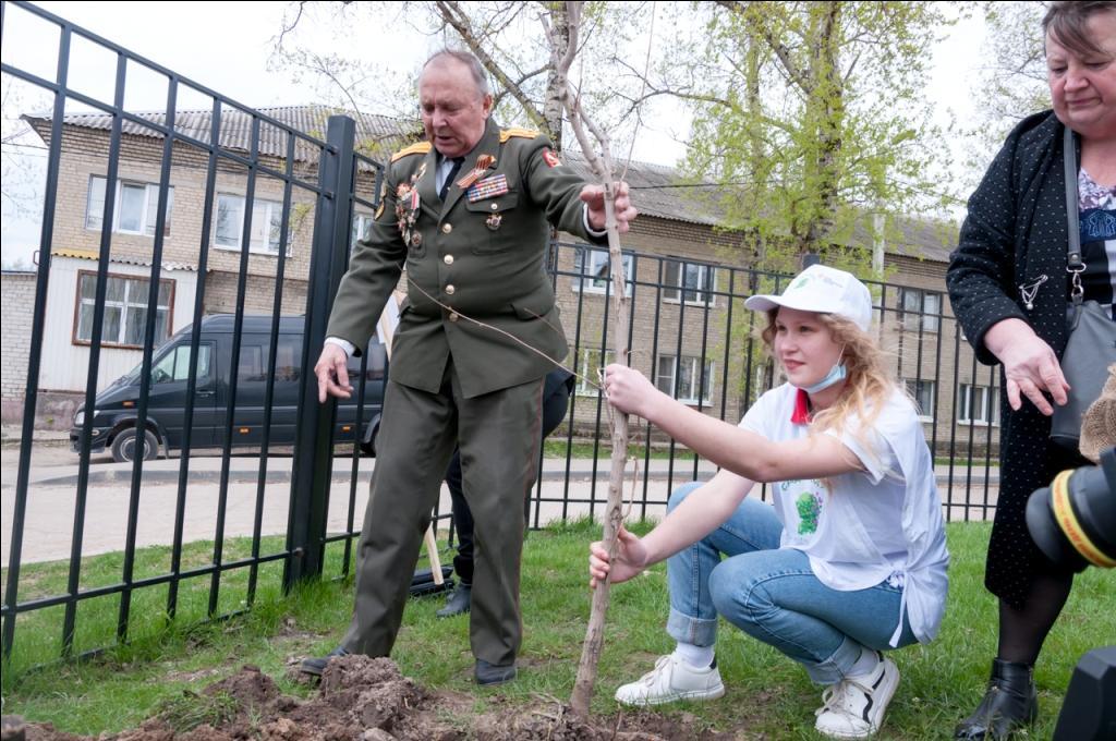 """Ветераны Калуги присоединились к международной акции """"Сад Памяти"""""""