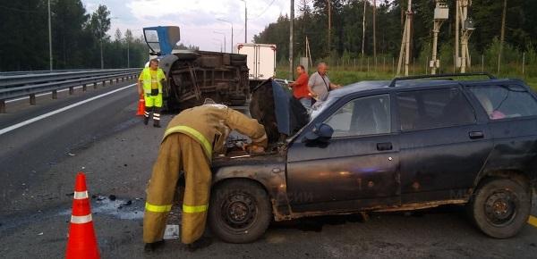 Трое пострадали в ДТП с «ГАЗелью» на Киевской трассе