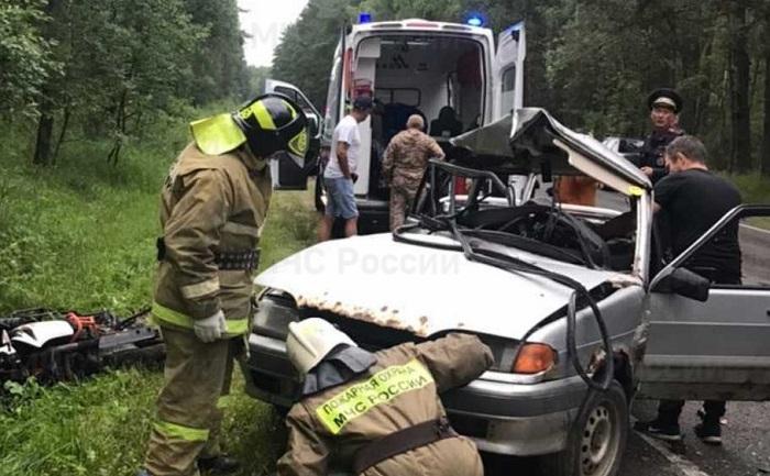 В Калужской области погиб мотоциклист при столкновении с «Ладой»