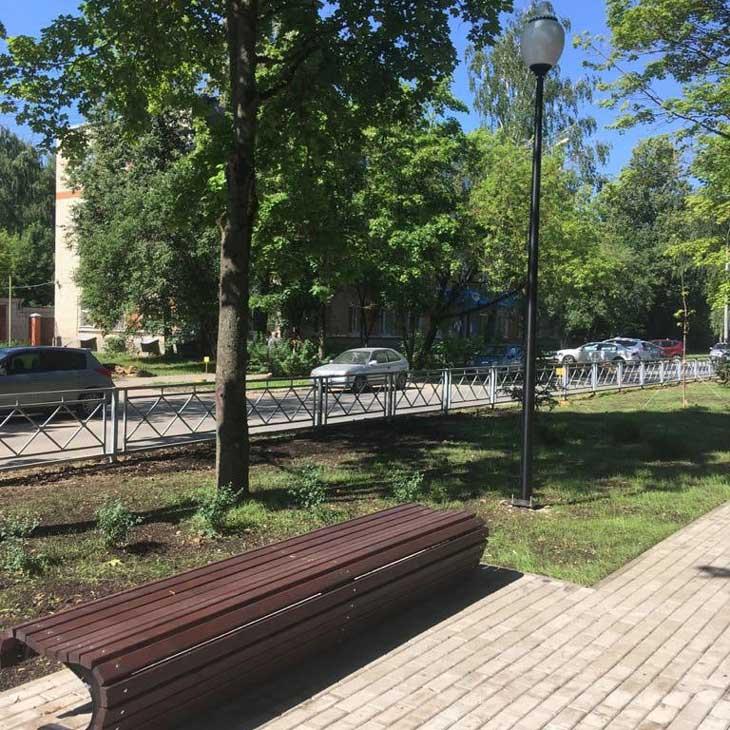 В Обнинске завершается благоустройство сквера на улице Победы