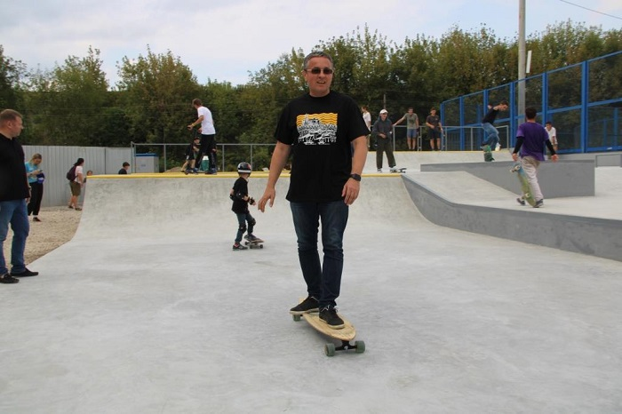 На юбилей Калуге подарили скейт-парк на площади Маяковского