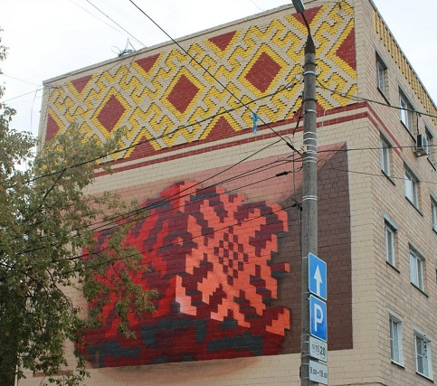 Улицу Ленина украсил мурал «Калуга классическая»