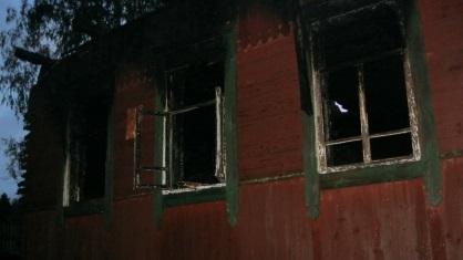 В Хвастовичском районе при пожаре частного дома погибли два человека