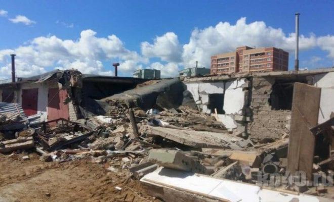 Взрыв гаража в Кременках