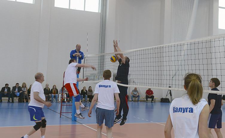 Волейболисты Горуправы Калуги одержали волевую победу над командой министерства спорта области