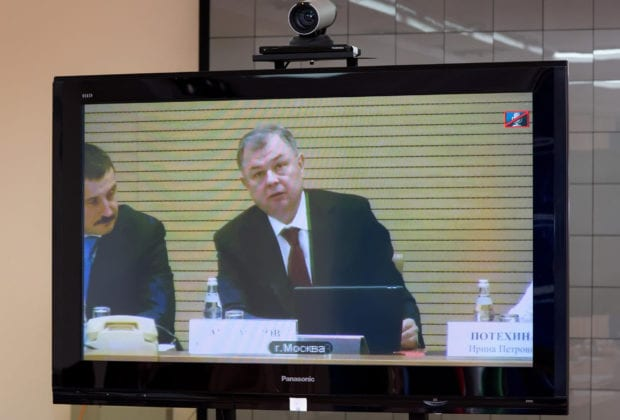 Анатолий Артамонов в режиме видеоконференцсвязи