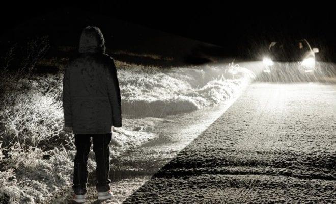 пешеход ночь