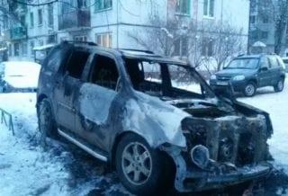 Хонда сгорела
