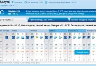 Холод в Калуге
