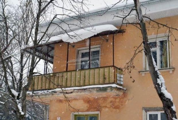 Сосульки на крыше