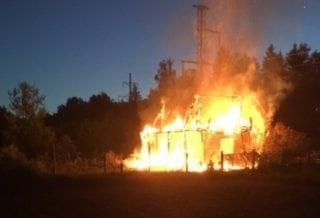 пожар в Людинове