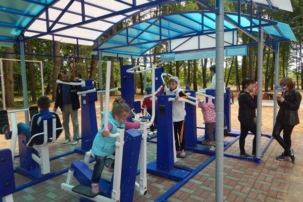 Детская площадка в Спасс-Деменске