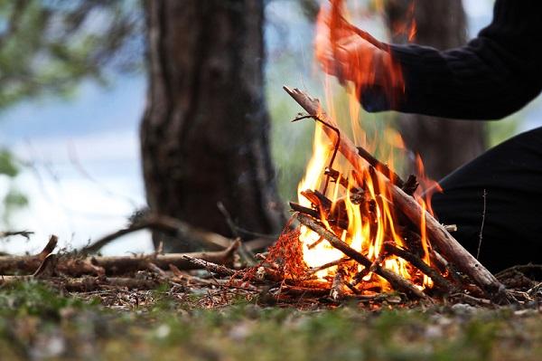 Пожар костер