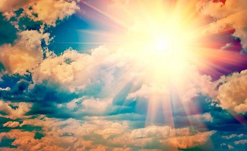 Погода облака и солнце