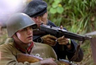 Сергей Безруков на съемках картины «Ильинский рубеж»