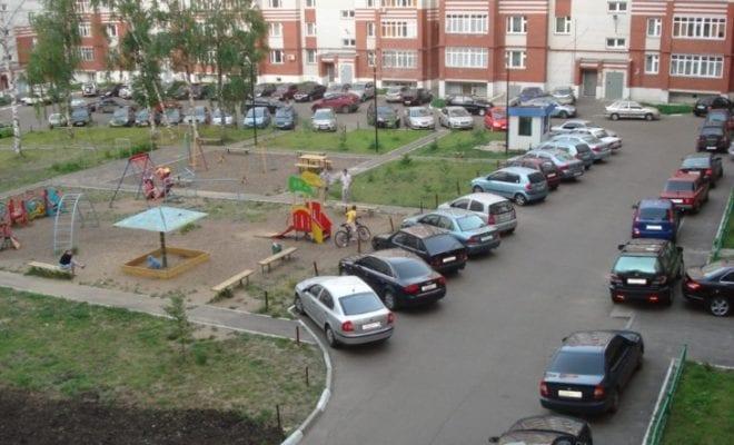Парковка во дворе