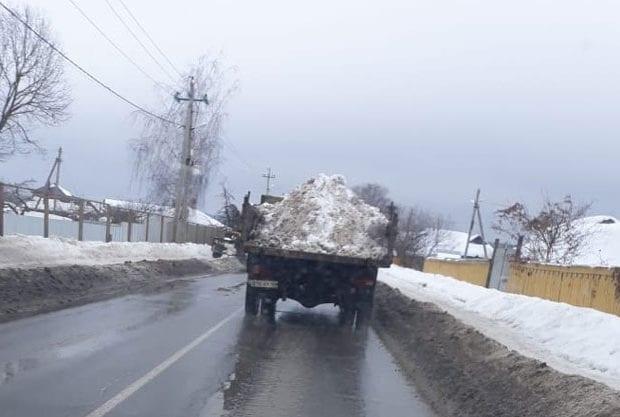 складирование снега