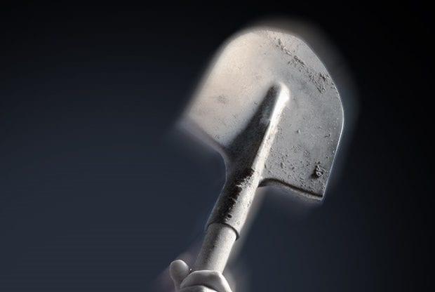 Драка лопатой