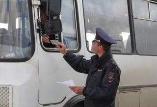 Полиция рейд автобус