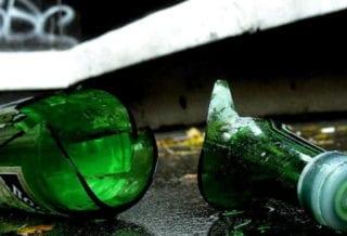 Бутылка разбитая